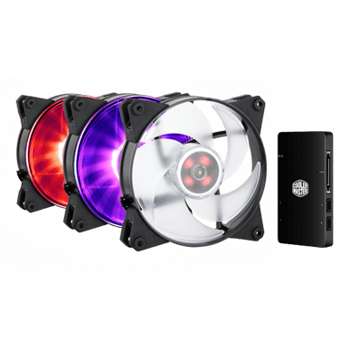 MasterFan Pro 120 Air Pressure RGB 3in1 with RGB Led Controller